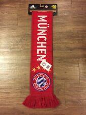Brand New adidas Bayern Munich Soccer Team Knit Scarf Red 2016/2017 S95126