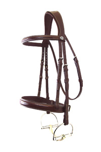 Signature by Antares Fancy Stitched Hunter Bridle Laced Reins Buffalo Leather 2