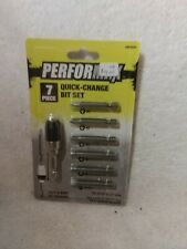 Performax 7-Piece Quick-Change Bit Set (New)