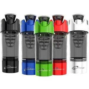 Cyclone Cup Shaker Bottle Blender Protein Shakes Mixer Water Sport Gym Bottle UK