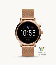 New Fossil Smartwatch Gen 5 Julianna HR Rose Gold Stainless Steel Mesh FTW6062