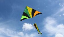 Tropical Rainbow with Spinner Windsock Giant Delta Kite 70x46 inch plus tail str
