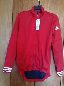 Adidas Adistar.oj.ls Jacket Men's Cycling Jacket Training Red CW7728 Sz. Medium
