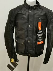 Merlin Beacon Airbag leather  motorcycle jacket black size 46 RRP: £350