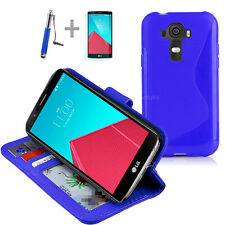 BLUE Wallet 4in1 Accessory Bundle Kit S TPU Case Cover For LG G4 4G