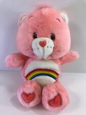 "Care Bears 2002 Cheer Bear Rainbow 13"" Pink Plush Stuffed Animal"
