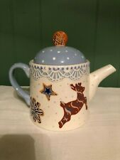 At Home Paula Deen Sugar Cookie Suite Cocoa Teapot w Lid 6 Cup Holiday Christmas