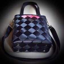 Nylon-Handmade-Women-Seatbelt-Colorful-Totes-Shoulders-Weave-Large-Handbags-Bag