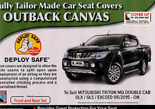MITSUBISHI  TRITON MQ CANVAS CAR SEAT COVERS  NEW MODEL 05/2015 ON TO CURRENT