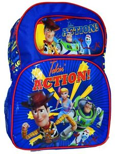 NEW LARGE KIDS BACKPACK SCHOOL BAGS BOYS TOY STORY WOODY BUZZ GIFT PICNIC PARTY