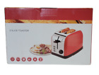 Stainless Steel Two Slice Toaster Red photo