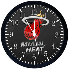 Miami Heat Black Frame Wall Clock Nice For Decor or Gifts W219