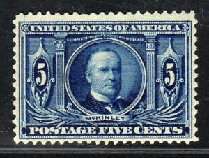 1904 US SC 326 5c Dark Blue McKinley, Louisiana Purchase, MNH VF