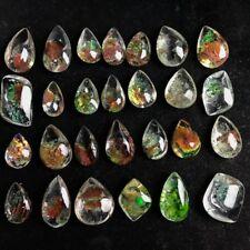 Natural Ghost Phantom Quartz Specimen Healing Stone Crystal Pendant Accessories