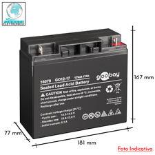 Batteria al piombo 12v 17ah ideale per UPS e alimentatori di emergenza