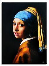 Jan Vermeer - Das Mädchen mit dem Perlenohrring-70x50 Ölgemälde handgemalt