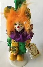 Dan Dee's Collector's Choice Hand Painted Bisque Porcelain Clown Doll