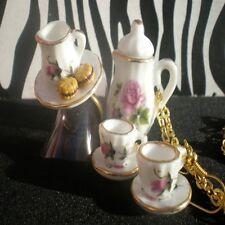 CUTE KITSCH KAWAII ALICE IN WONDERLAND MAD HATTERS TEA PARTY JEWELLERY SET