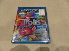 TROLLS PARTY EDITION BLU-RAY+DVD+DIGITAL HD NEW WITHOUT SLIPCOVER