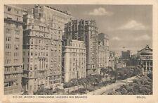Rio de Janeiro Brazil Cinelandia (Avenida Rio Branco) Postcard c1920