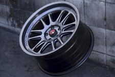 Aodhan AH07 18x9.5 +30 5x100 Hyper Black Impreza WRX FRS BRZ Celica Corolla TC