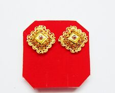 Gold Plated Stud Earrings Indian Traditional Top Women Fashion Designer Jewelry