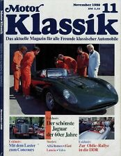 Motor Klassik 11/89 1989 Alfa Spider 1300 Taunus 12M Jaguar XJ13 Porsche 356