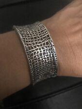 Mesh Cuff Bracelet .925 Weave Euc Silpada B1625 Sterling Silver Woven