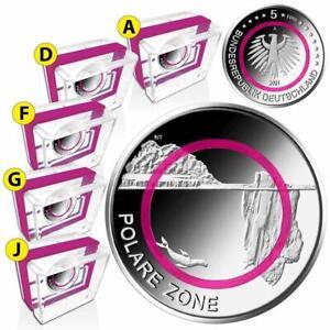 Deutschland - 5 x 5 Euro 2021 - Polare Zone (5.) - Satz ADFGJ - PP
