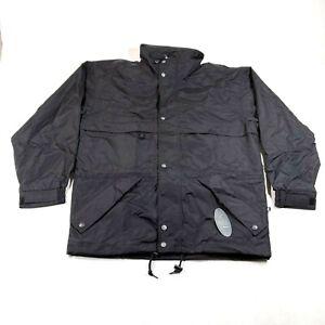 NEW Kobe Classic Wear Windbreaker Track Jacket Mens S Black Full Zip Golf Blank