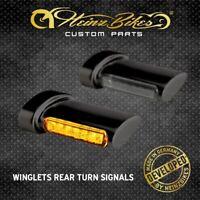 HeinzBikes Winglets LED Blinker Harley Sportster Fender hinten Schwarz
