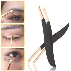 Eyebrow tweezers hair remover stainless steel pluckers plucking facial sharp