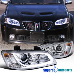 For 2008-2009 Pontiac G8 LED Strip Light Bar Projector Headlights