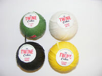 12 Twine balls in Green, Yellow, Black or White for garden or DIY use