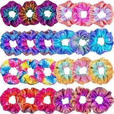 16Pcs Laser Metallic Scrunchies Hair Bands Girl Elastic Scrunchy Hair Ties Ropes