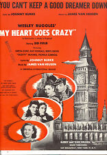 """MY HEART GOES CRAZY """"You Can't Keep A Good Dreamer Down"""" Kay Kendall Greta Gynt"""