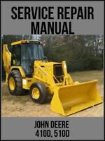 John Deere 410D 510D Backhoe Loader Service Repair Manual TM1513 USB