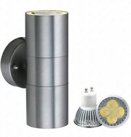 GU10 Light LAMP QUALITY Stainless Steel Up Down Double Indoor Outdoor Wall IP44