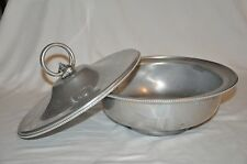 Vintage B W Buenilum Hammered Aluminum Serving Bowl with Lid