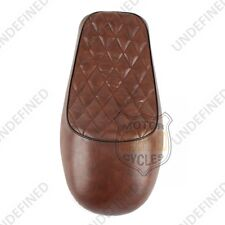 Cafe Racer Vintage Saddle Hump Diamond Seat For Honda CB350 CB450 CB750 Brown