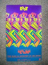LOOT / ENTERTAINING MR. SLOANE Window Card JOE ORTON Mark Taper Forum LA 1987