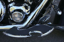 Heel Toe Shifter / Brake & Floorboards Flame & Skull Harley Road Glide 2008-13
