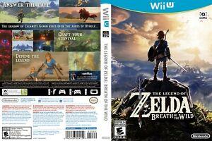 - Legend of Zelda: Breath of the Wild Cover Art Work Inlay Insert Only