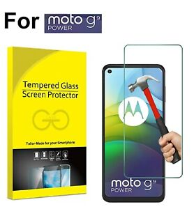 For Motorola Moto G9 Power Tempered Glass Screen Protector Case Friendly