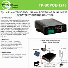 Tycon Power PoE/Solar charge control Tp-Scpoe-1248 with dual input 12V