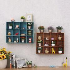 Rustic Wooden Wall Shelf Shadow Box Display Rack Shelf Storage Unit DIY