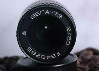 VEGA - 73 2/20mm  (Russian Openar Tevidon lens)  M25 C-mount BlackMagic