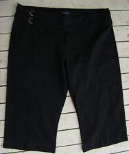 Crossroads BLACK 3/4 Crop Pants Size 14 NEW rrp$39.95 Fishermans style Waistband