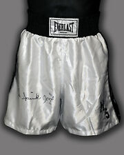 *New* Michael Spinks Hand Signed Replica Boxing Trunks