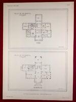 Nice Plan Villa Bartol 1920 Architecte M. Messiah Côte d'Azur Alpes Maritimes